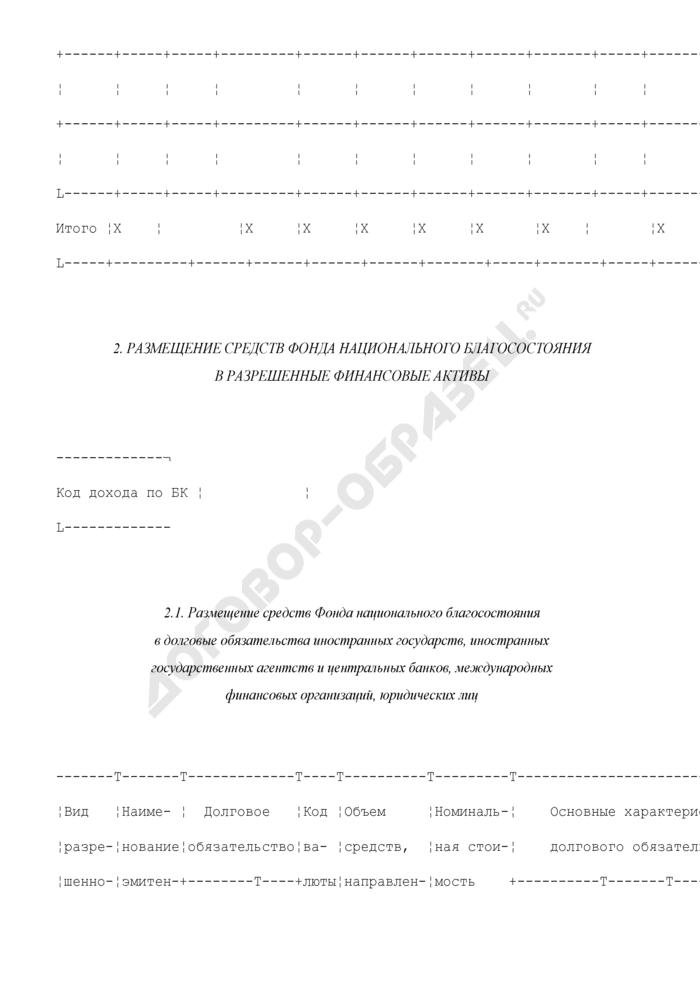 Отчет об управлении средствами Фонда национального благосостояния, представляемый в Правительство Российской Федерации. Страница 3