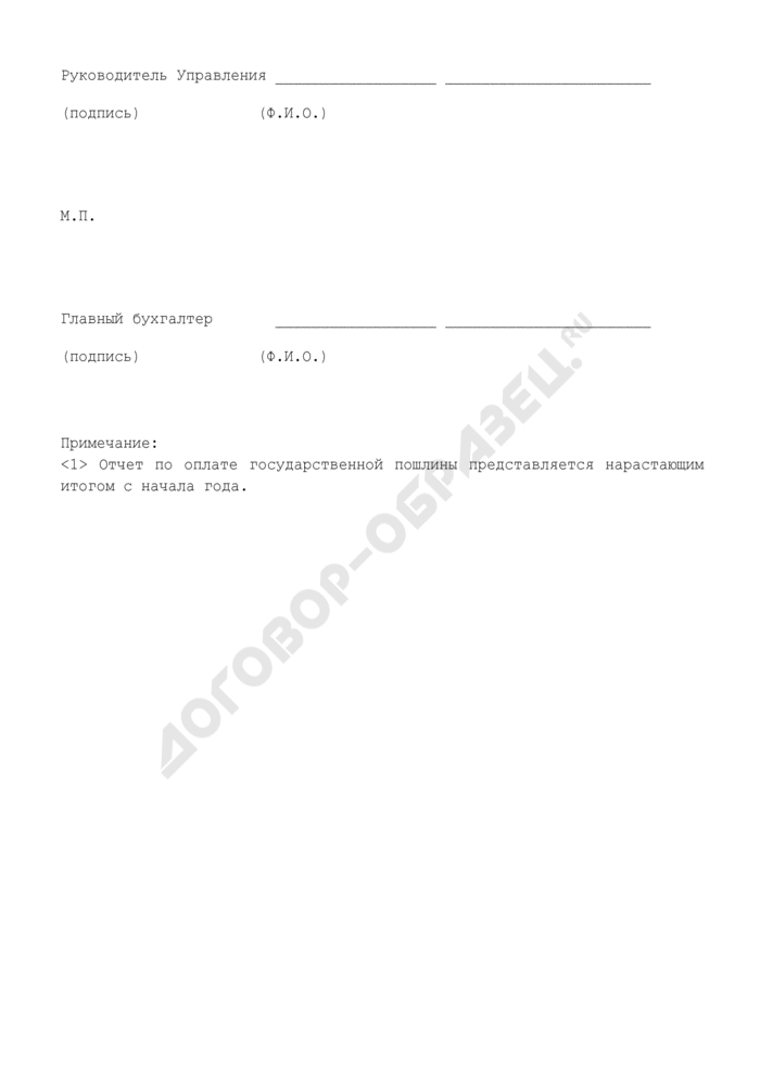 Отчет по оплате государственной пошлины. Страница 2