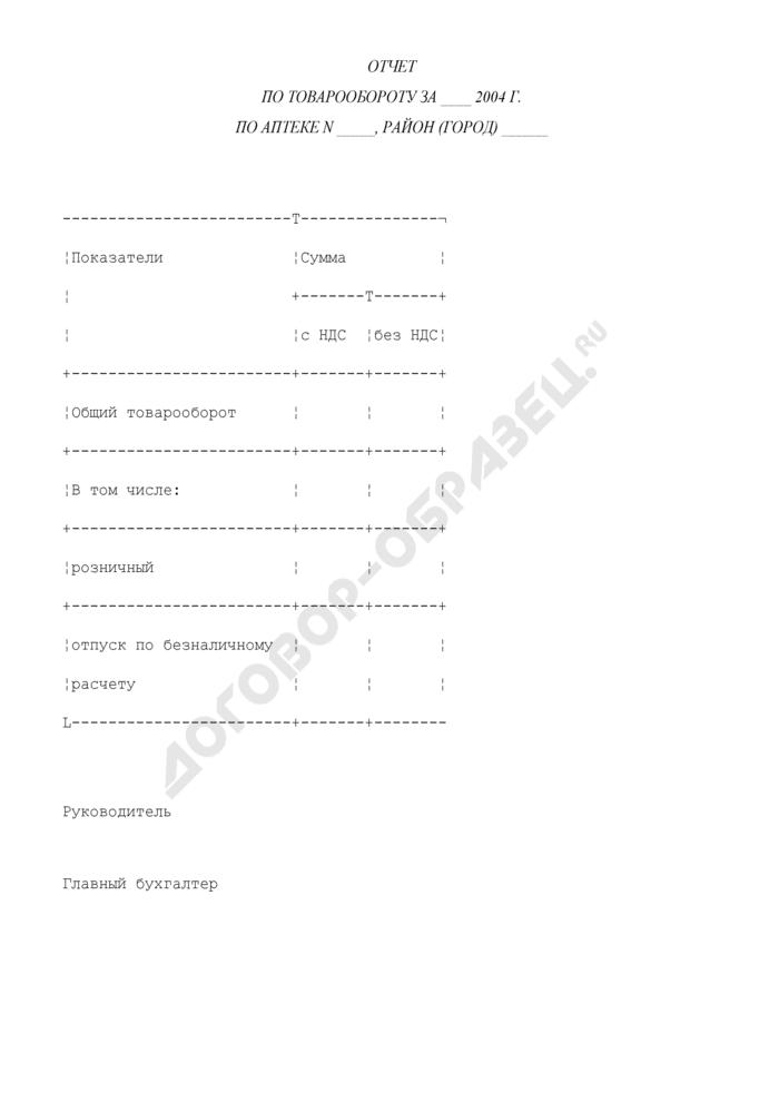 Отчет по товарообороту по аптеке (приложение к отчету о прибылях и убытках). Страница 1