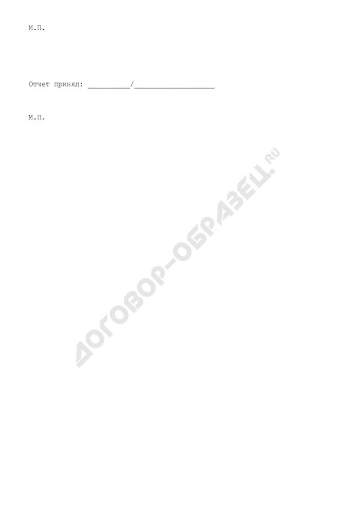 Отчет комиссионера о выполнении договора (приложение к договору комиссии на реализацию кухонной мебели). Страница 2