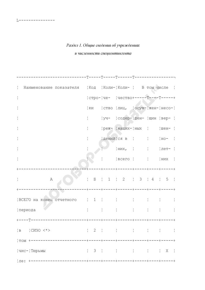 Сводный статистический отчет о состоянии законности и соблюдении прав человека в уголовно-исполнительной системе. Форма N УИС-СЗПЧ. Страница 2