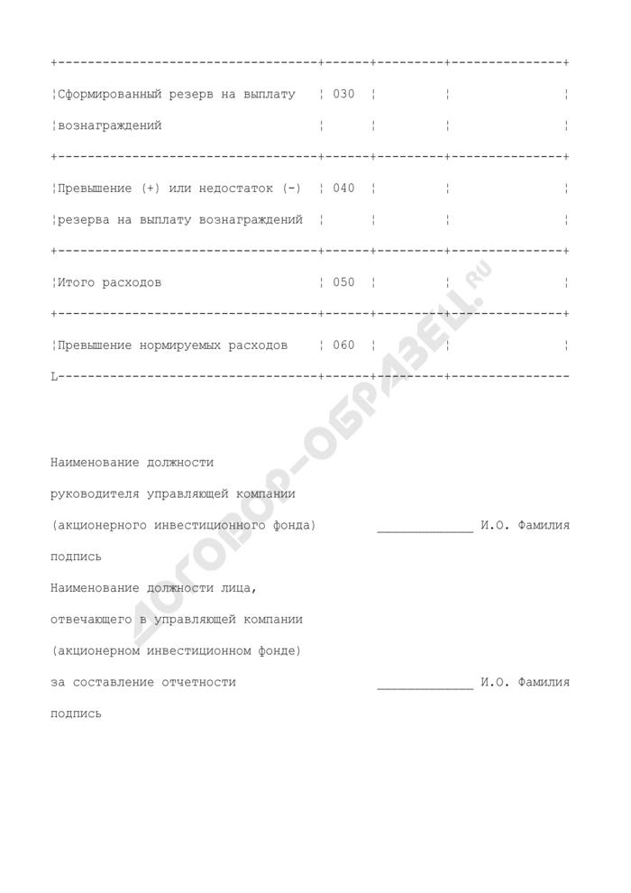 Отчет о вознаграждении управляющей компании и расходах, связанных с управлением акционерным инвестиционным фондом и доверительным управлением паевым инвестиционным фондом. Страница 3