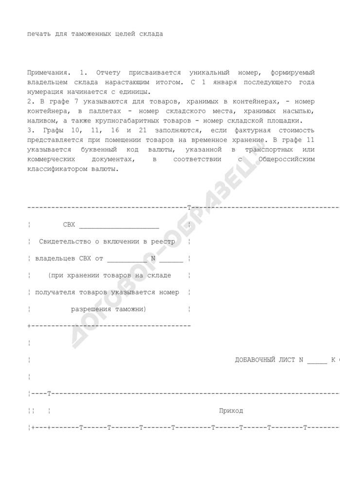 Отчет о выдаче товаров со склада временного хранения. Форма N ДО2. Страница 3