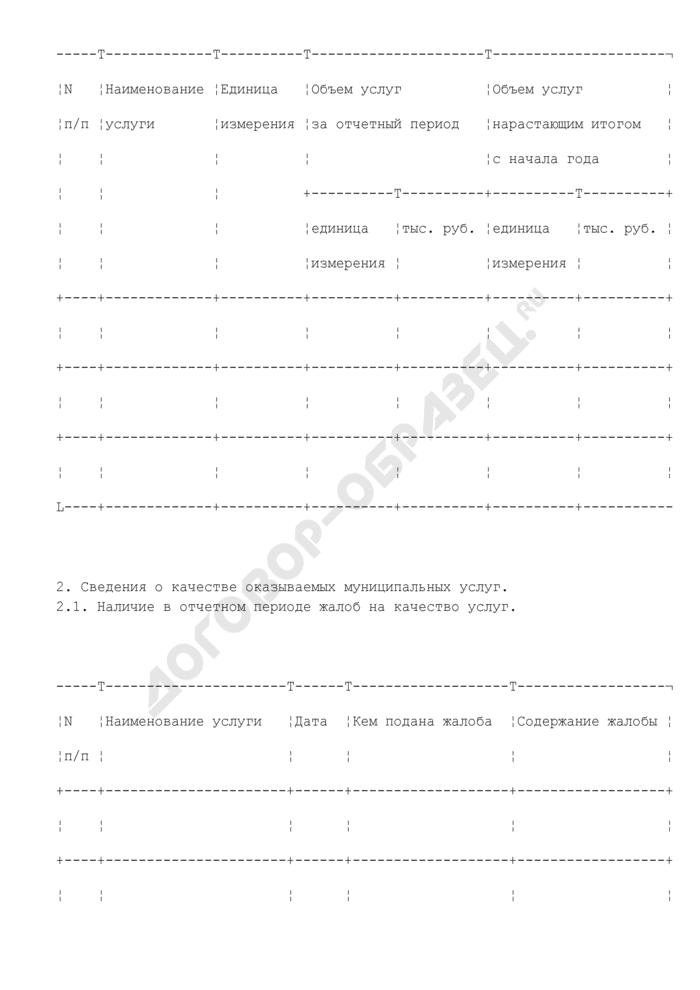 Отчет о выполнении муниципального задания на оказание муниципальных услуг на территории Волоколамского муниципального района Московской области. Страница 2