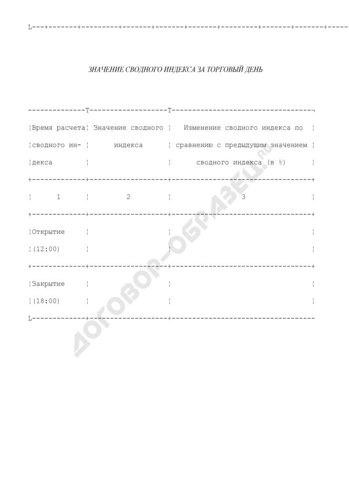 Ежедневный отчет организатора торговли на рынке ценных бумаг. Форма N 3200 (отчетность профессиональных участников рынка ценных бумаг). Страница 3