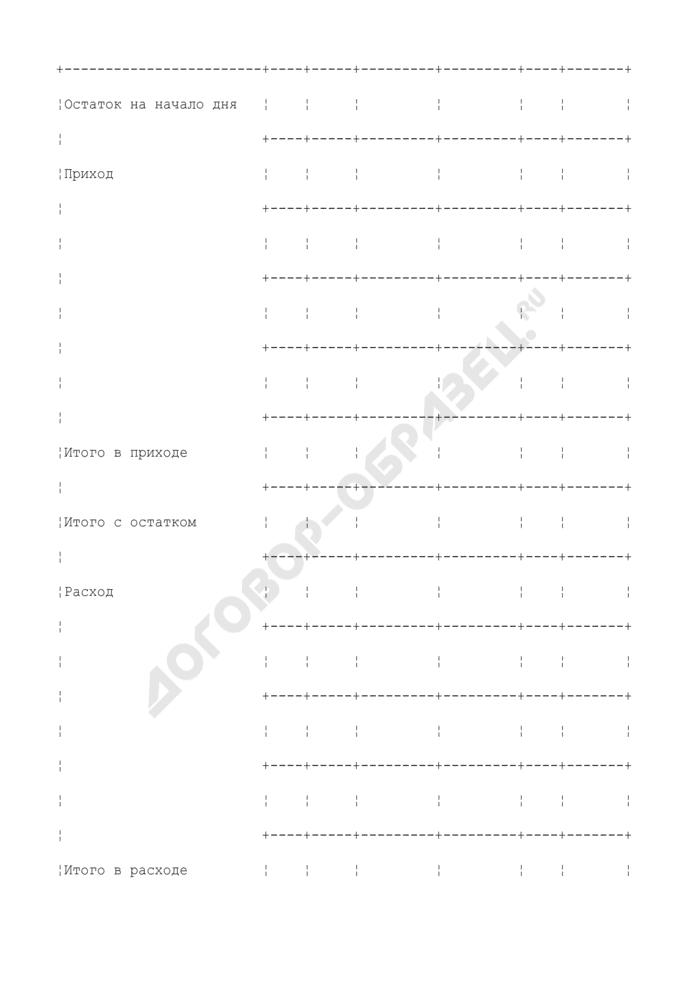 Отчет о движении продуктов и тары на кухне. Специализированная форма N 8-ОПит. Страница 2