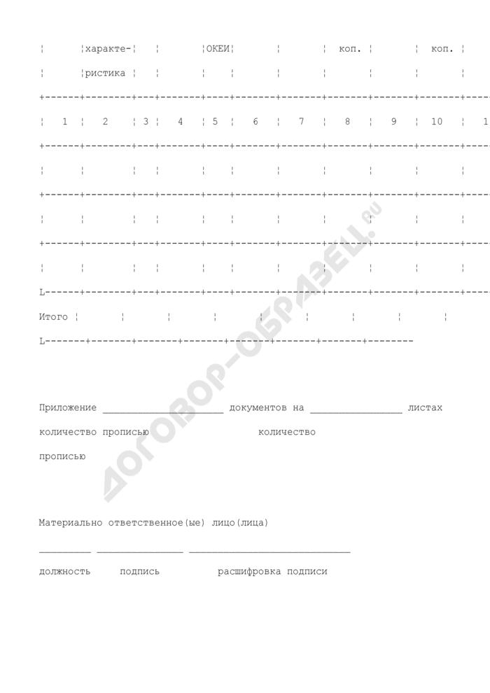 Отчет о движении товарно-материальных ценностей в местах хранения. Унифицированная форма N МХ-20. Страница 3