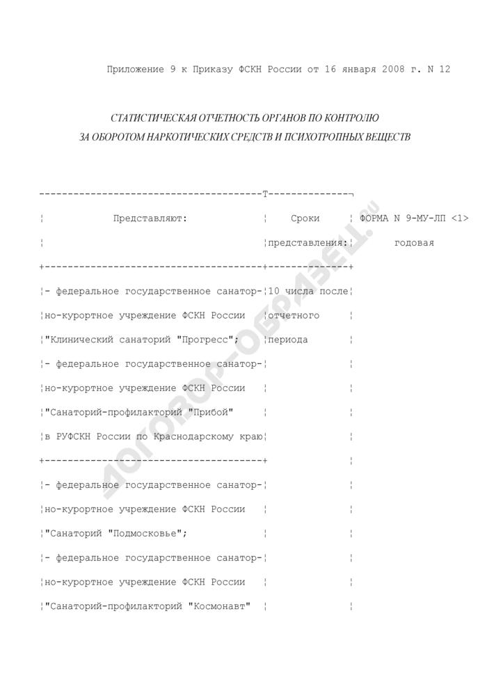 Отчет о заболеваемости инфекционными и паразитарными болезнями. Форма N 9-МУ-ЛП. Страница 1
