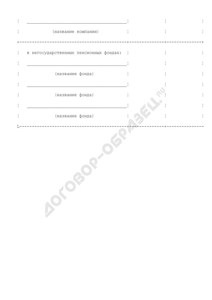 Отчет о застрахованных лицах, в отношении которых формируются средства пенсионных накоплений. Страница 2