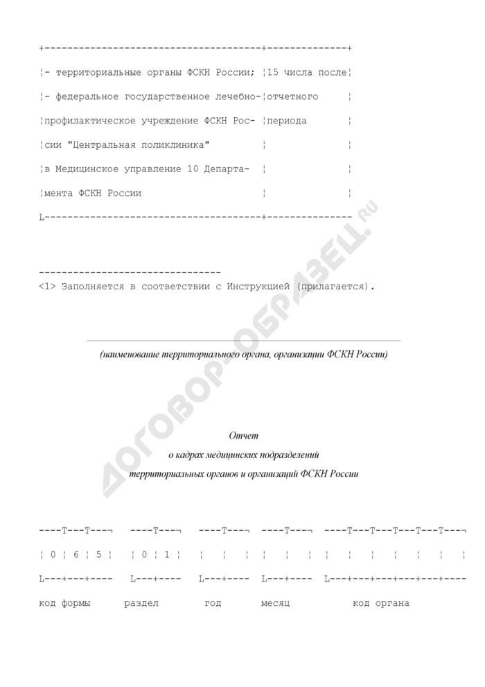 Отчет о кадрах медицинских подразделений территориальных органов и организаций ФСКН России. Форма N 1-МУ-КАД. Страница 3