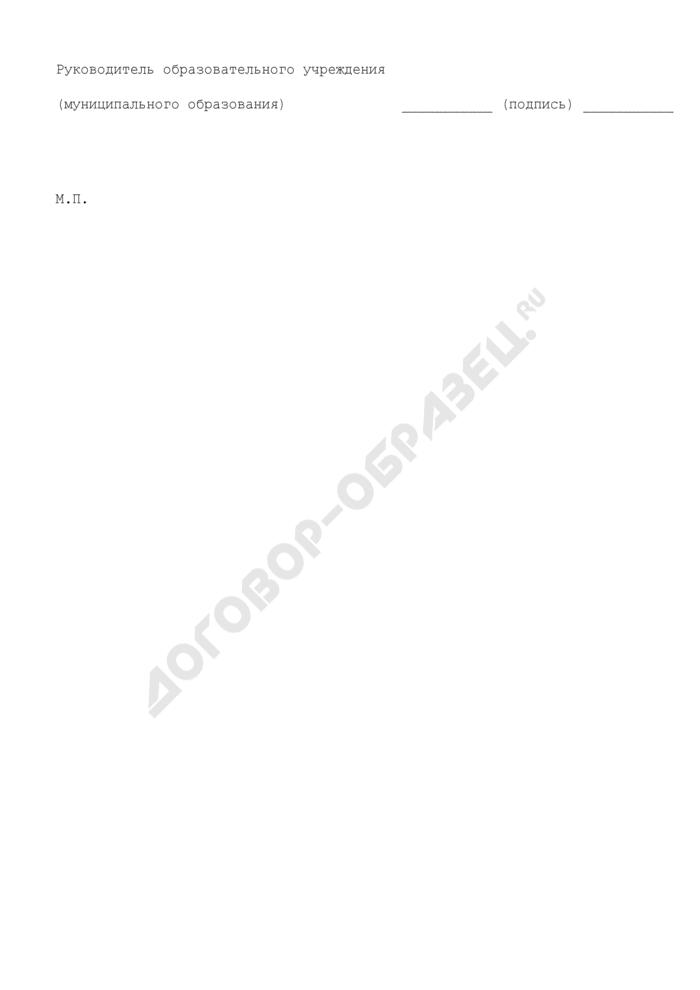 Отчет о комплексной безопасности образовательного учреждения (образовательных учреждений муниципального образования) Московской области. Страница 2