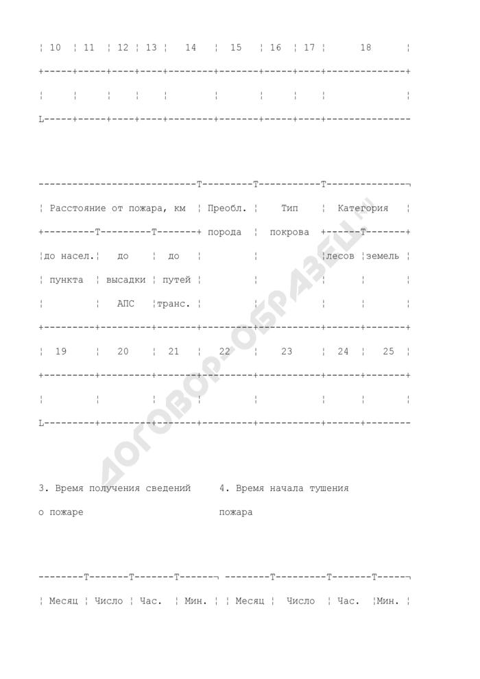 Отчет о ликвидации лесного пожара. Форма N 23-авиа. Страница 3