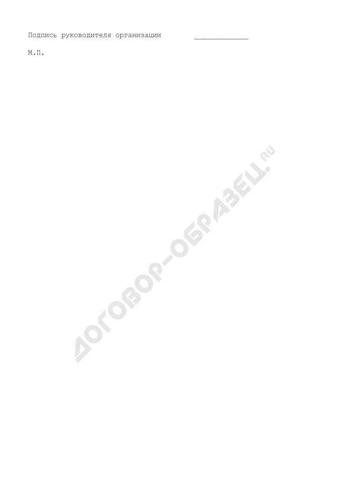 Отчет о наличии, использовании и восполнении резервного фонда материальных ресурсов Московской области для ликвидации чрезвычайных ситуаций межмуниципального и регионального характера на территории Московской области. Страница 2