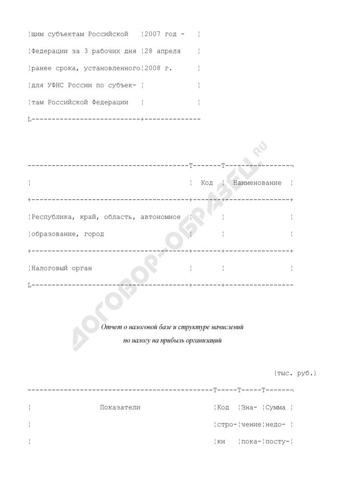 Отчет о налоговой базе и структуре начислений по налогу на прибыль организаций. Форма N 5-П. Страница 2