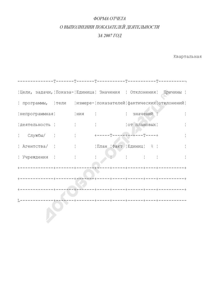 Квартальный отчет о выполнении показателей деятельности подведомственных Минкультуры России главных распорядителей бюджетных средств федерального бюджета. Страница 1