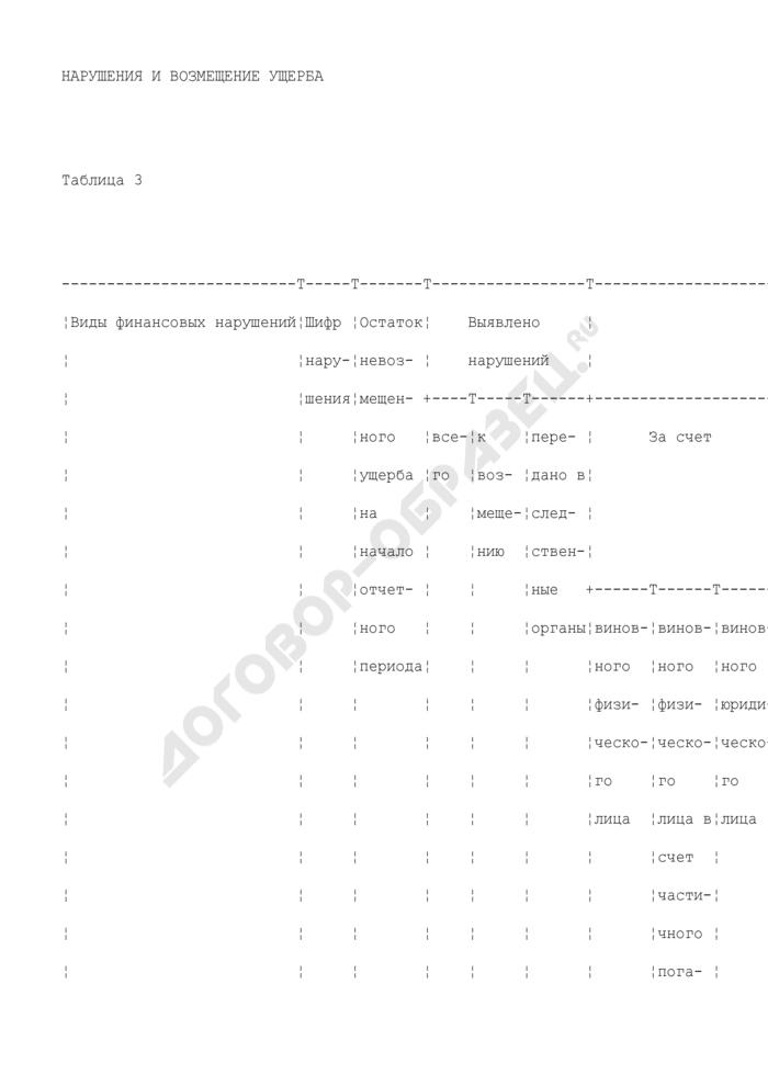 Отчет о работе ведомственного финансового контроля. Форма N 1-ревизия (квартальная). Страница 3
