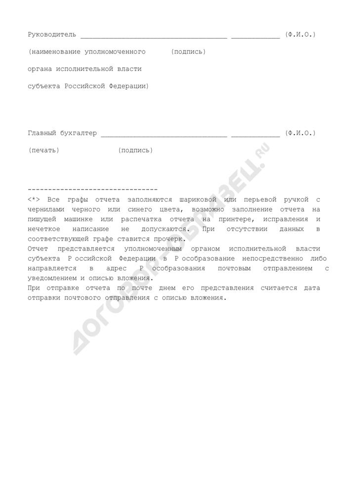 Отчет о расходах бюджета субъекта Российской Федерации и местных бюджетов, связанных с государственной поддержкой общеобразовательных учреждений, внедряющих инновационные образовательные программы, источником финансового обеспечения которых является субсидия, полученная из федерального бюджета. Страница 3