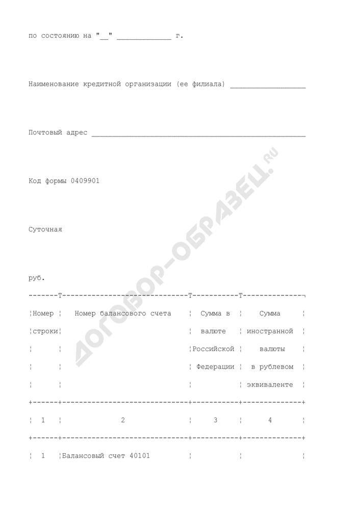 Оперативный отчет об остатках на счетах по учету доходов, распределяемых между бюджетами бюджетной системы Российской Федерации, и средств федерального бюджета. Страница 2