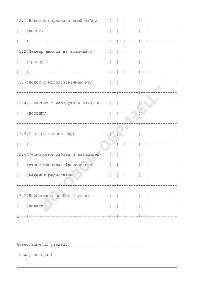 Отчет о результатах летной проверки - QFT.08. Страница 3