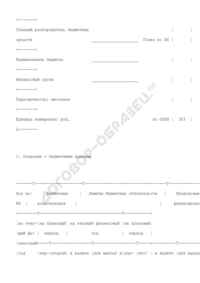 Отчет о состоянии лицевого счета иного получателя бюджетных средств. Страница 2