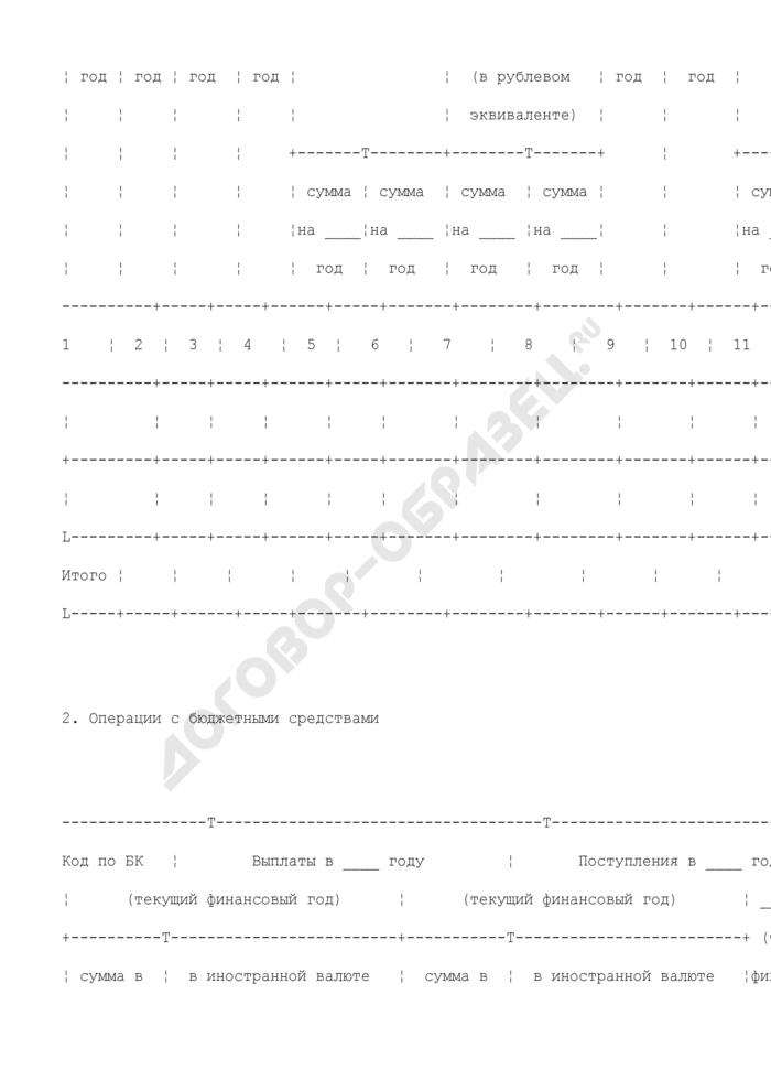 Отчет о состоянии лицевого счета иного получателя бюджетных средств (для отражения операций). Страница 3