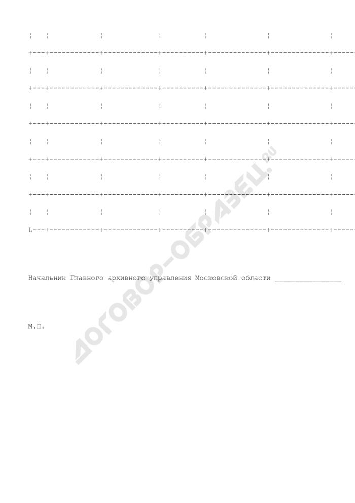 Отчет о стоимости выполненных работ и затрат на объектах, финансируемых за счет средств бюджета Московской области на осуществление бюджетных инвестиций, предусмотренных Главному архивному управлению Московской области. Страница 2