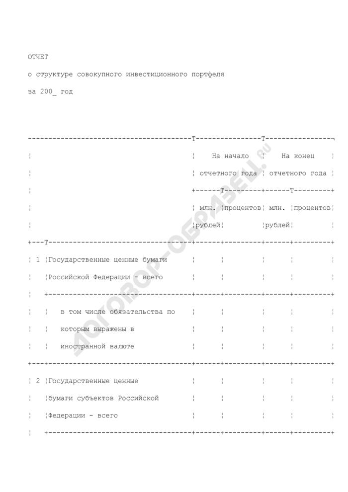 Отчет о структуре совокупного инвестиционного портфеля. Страница 1