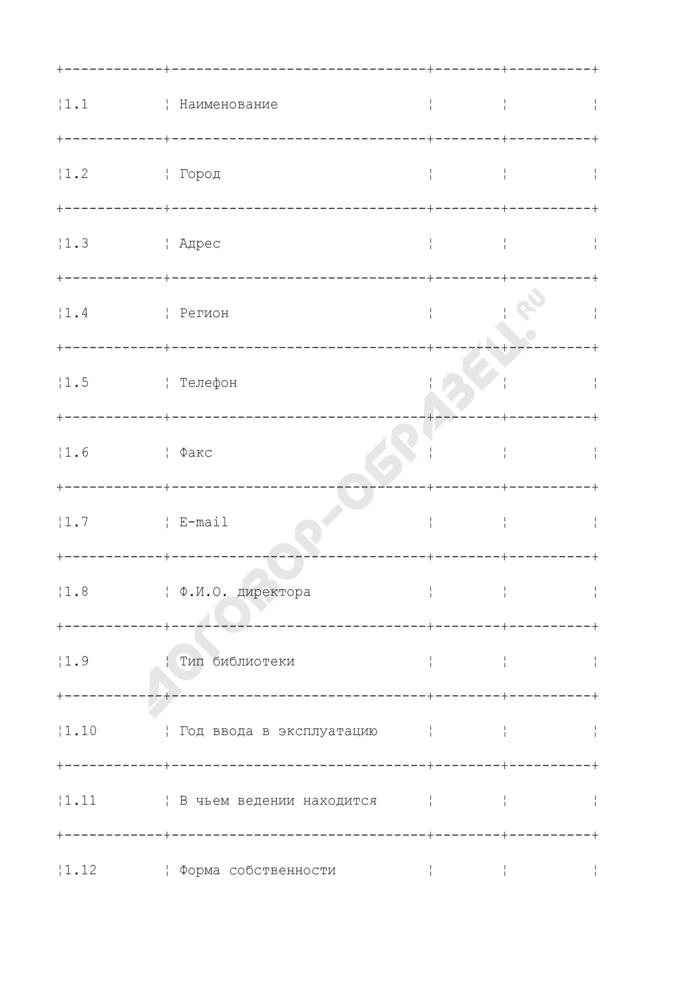 Паспорт технической оснащенности библиотеки. Страница 2
