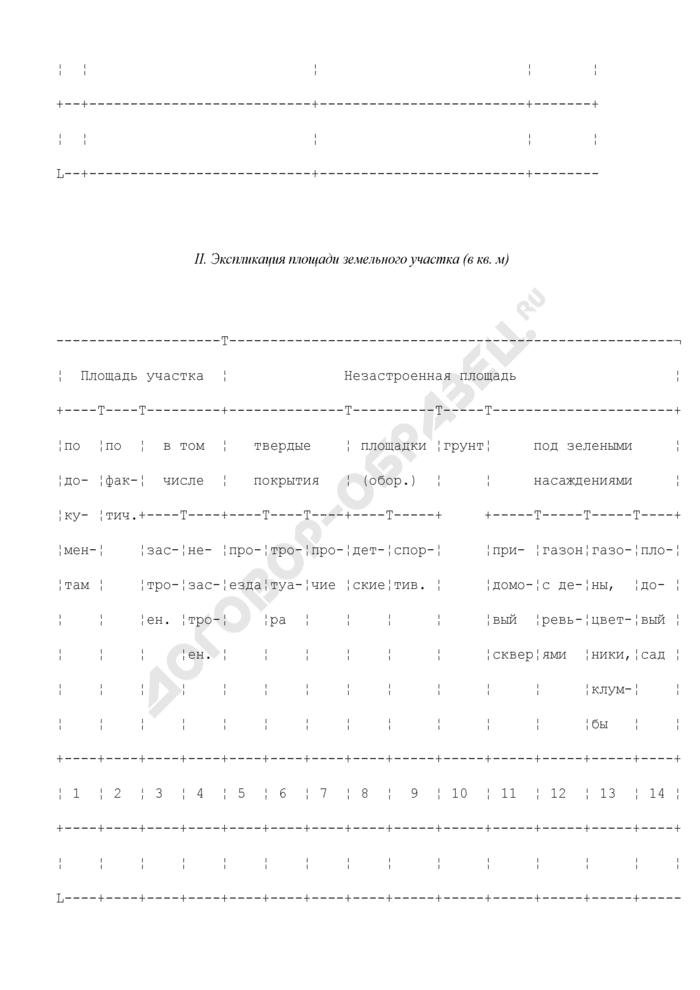 Технический паспорт домовладения. Страница 3