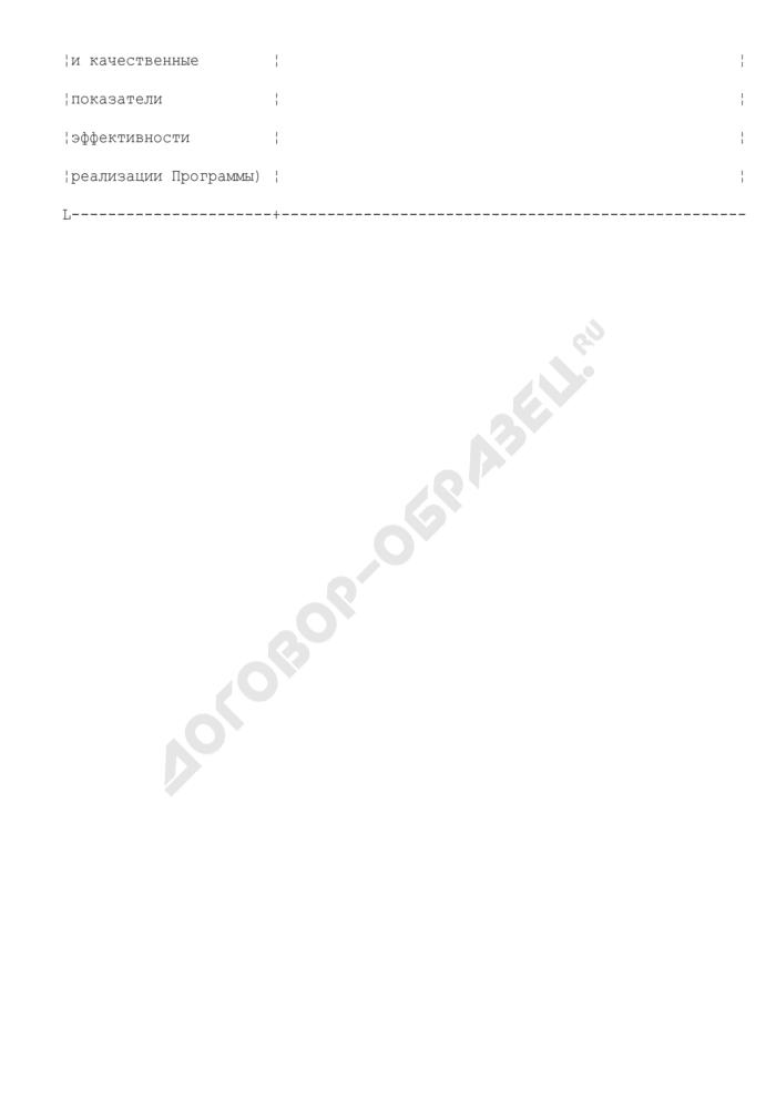 Форма паспорта муниципальной целевой программы Ступинского муниципального района Московской области. Страница 3