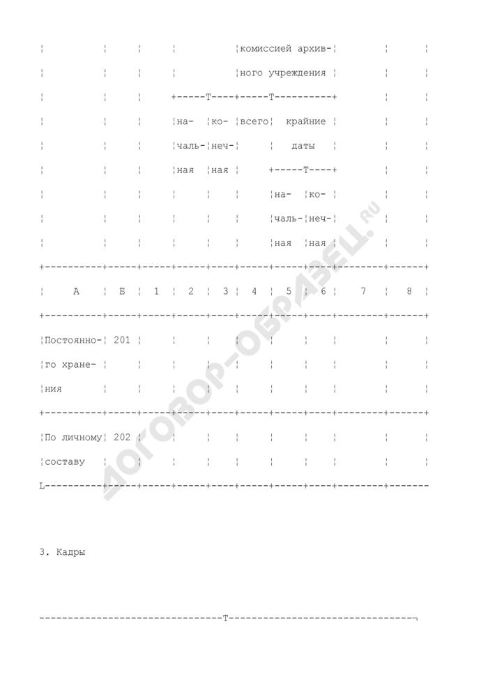 Паспорт архива суда. Страница 2