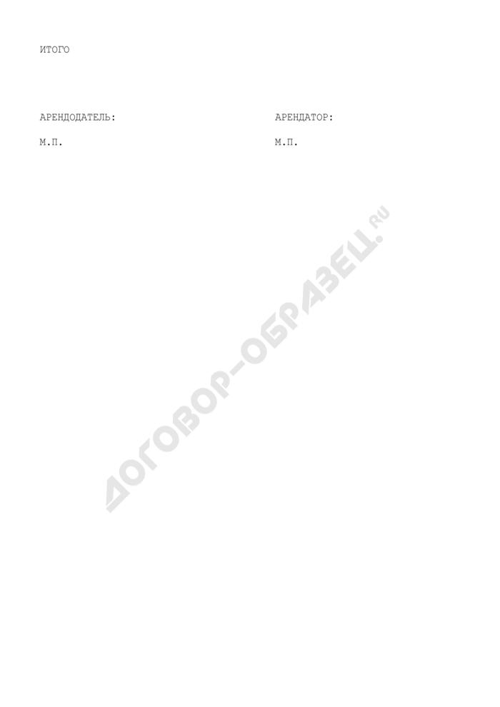 Перечень имущества, передаваемого в безвозмездное пользование (приложение к договору безвозмездного пользования движимым имуществом, находящимся в муниципальной собственности Люберецкого района Московской области). Страница 2