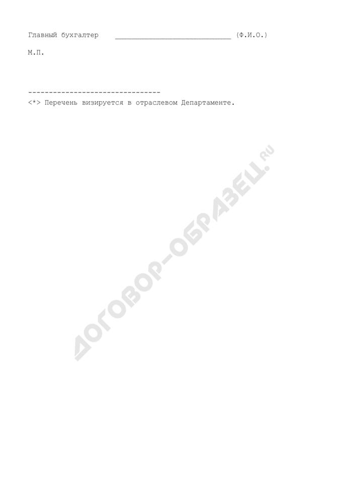 Перечень имущества (оборудования, ТМЦ), передаваемого предприятием в качестве залога по договору, являющегося предметом сделки (рекомендуемая форма). Страница 2