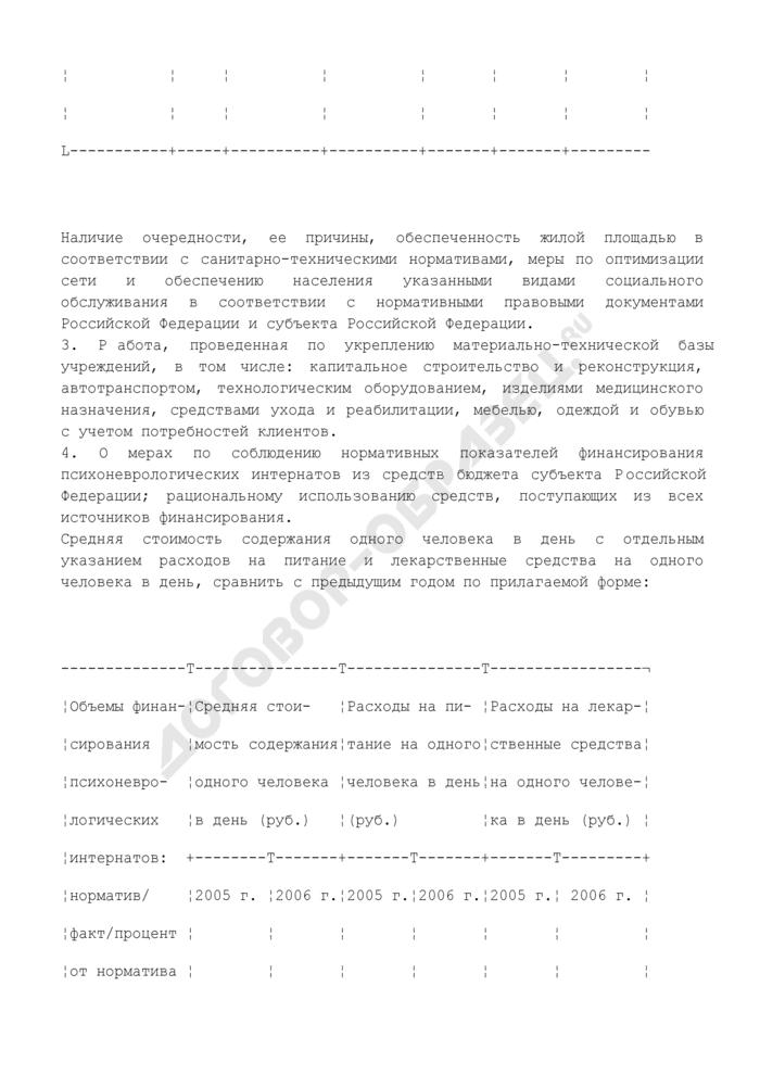 Перечень вопросов по проверке организации деятельности психоневрологических интернатов. Страница 2