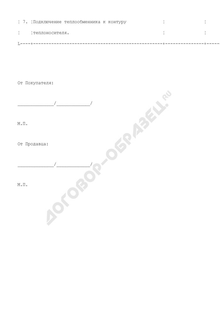 Перечень работ, выполняемых покупателем (приложение к договору купли-продажи бассейна с условием о монтаже). Страница 2