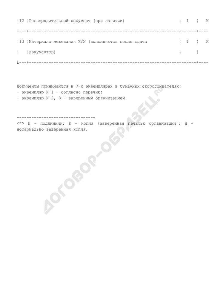 Примерный перечень документов, необходимых для физических лиц при оформлении земельно-правовых отношений при наличии имущественных прав на нежилые помещения. Страница 3