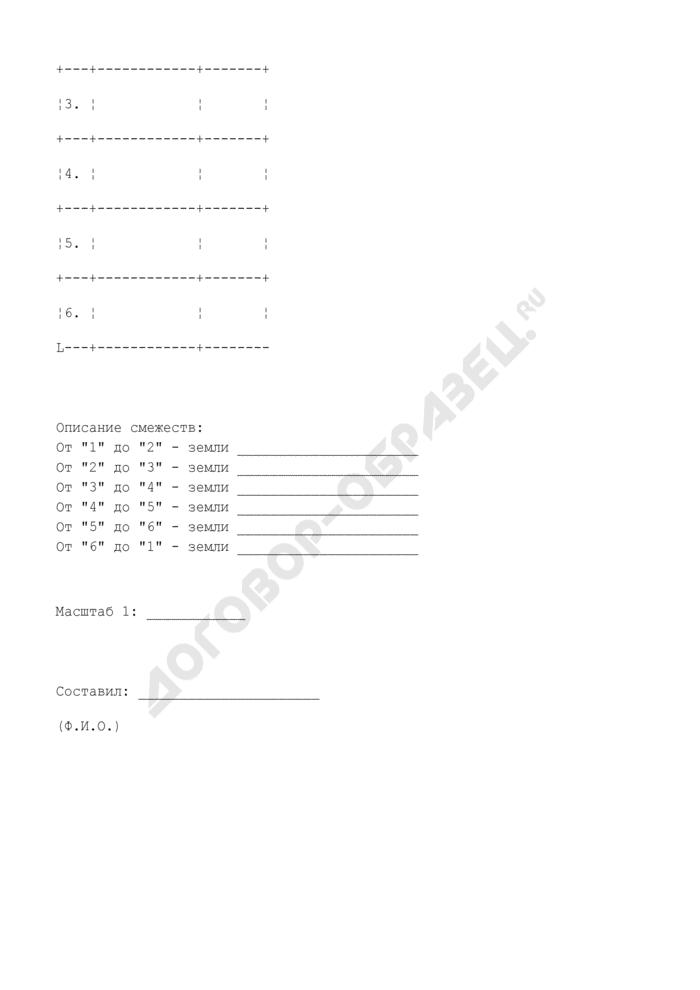 План земельного участка в г. Дзержинский Московской области (приложение к договору аренды земли). Страница 2