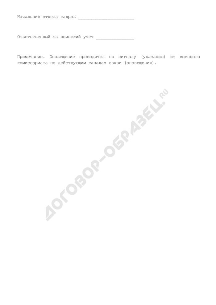 План оповещения граждан, пребывающих в запасе, при объявлении мобилизации. Страница 2