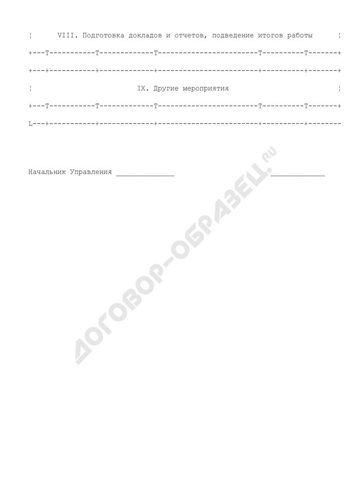 План работы структурного подразделения центрального аппарата Росграницы на месяц. Страница 3