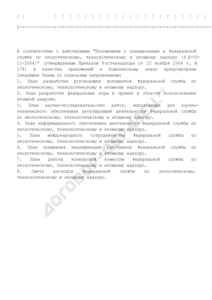 План работы территориального органа Федеральной службы по экологическому, технологическому и атомному надзору на месяц. Страница 3
