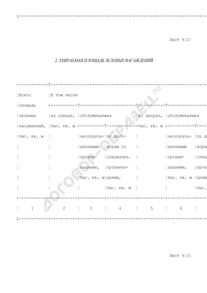 Хозяйственно-финансовый план службы заказчика административного округа. Сведения по уборочной площади (лист 6). Страница 3