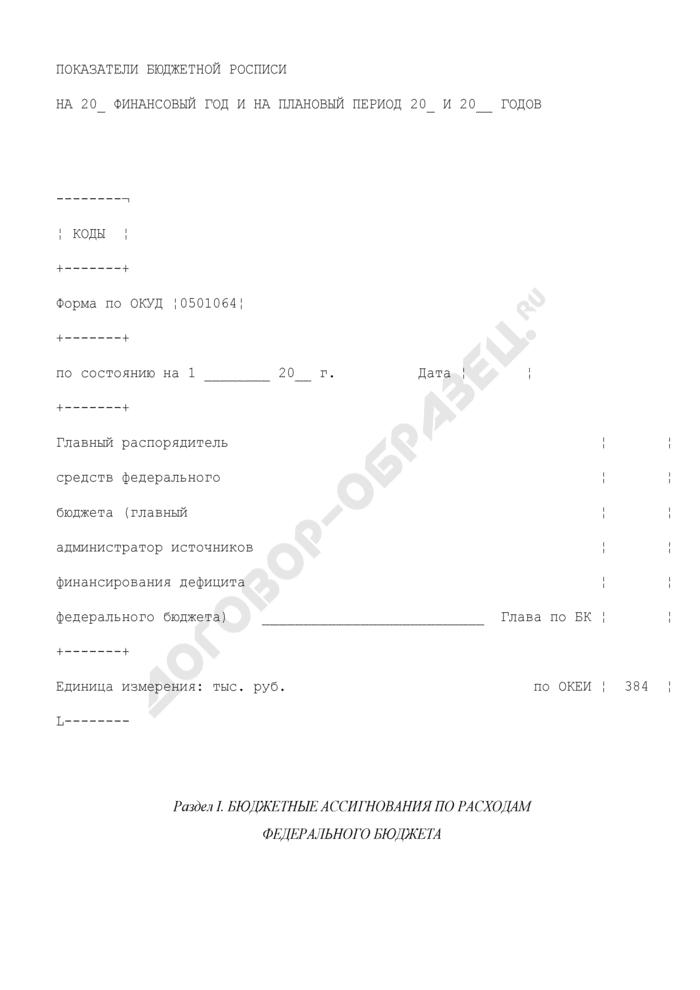 Показатели бюджетной росписи Федеральной службы по интеллектуальной собственности, патентам и товарным знакам на 2009 финансовый год и на плановый период 2010 и 2011 годов. Страница 1