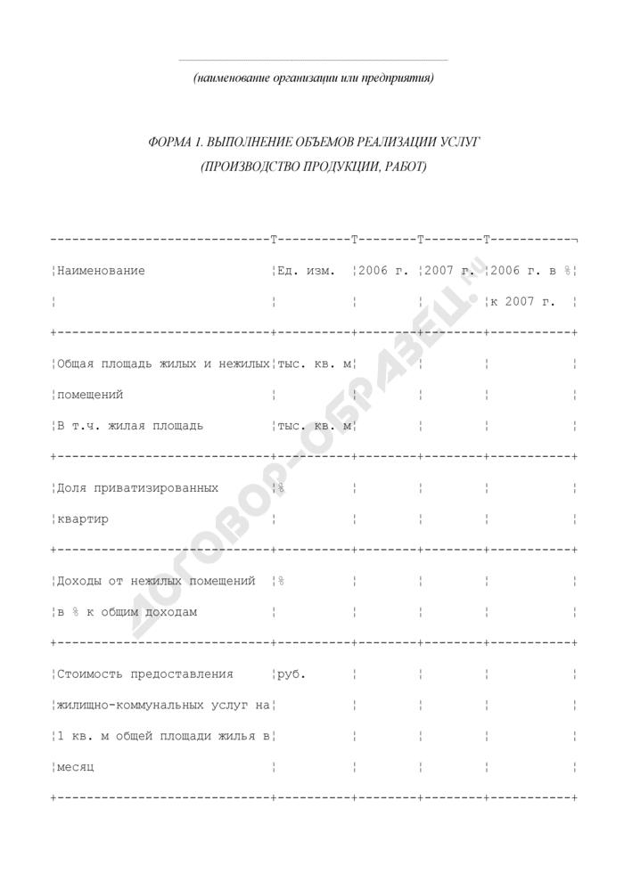 Основные показатели выполнения объемов реализации услуг по предоставлению жилищно-коммунальных услуг в городском округе Химки Московской области. Страница 1