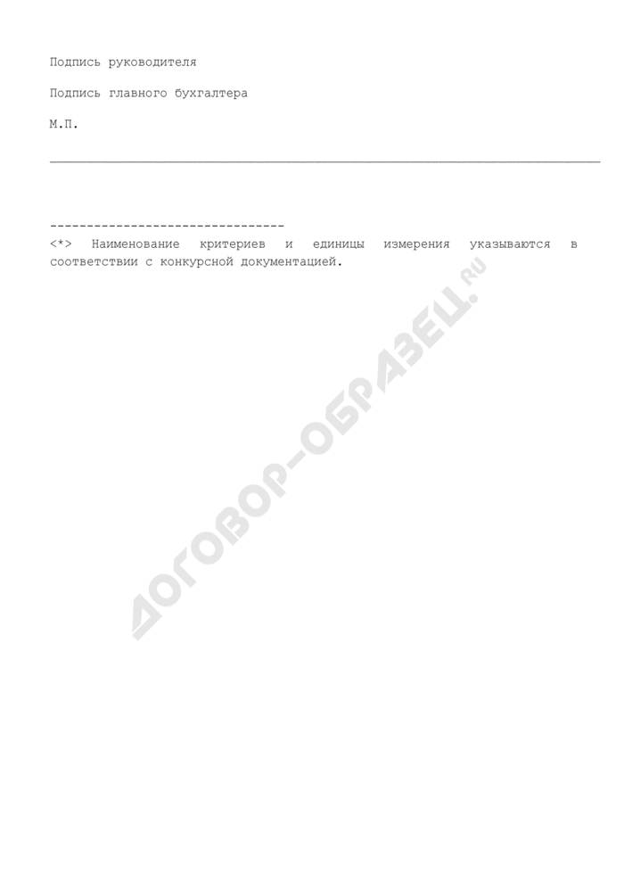 Конкурсное предложение по предмету конкурса на право реализации инвестиционного проекта (образец) (приложение к лотовой (конкурсной) документации по объектам, выставляемым на инвестиционные аукционы и конкурсы). Страница 3