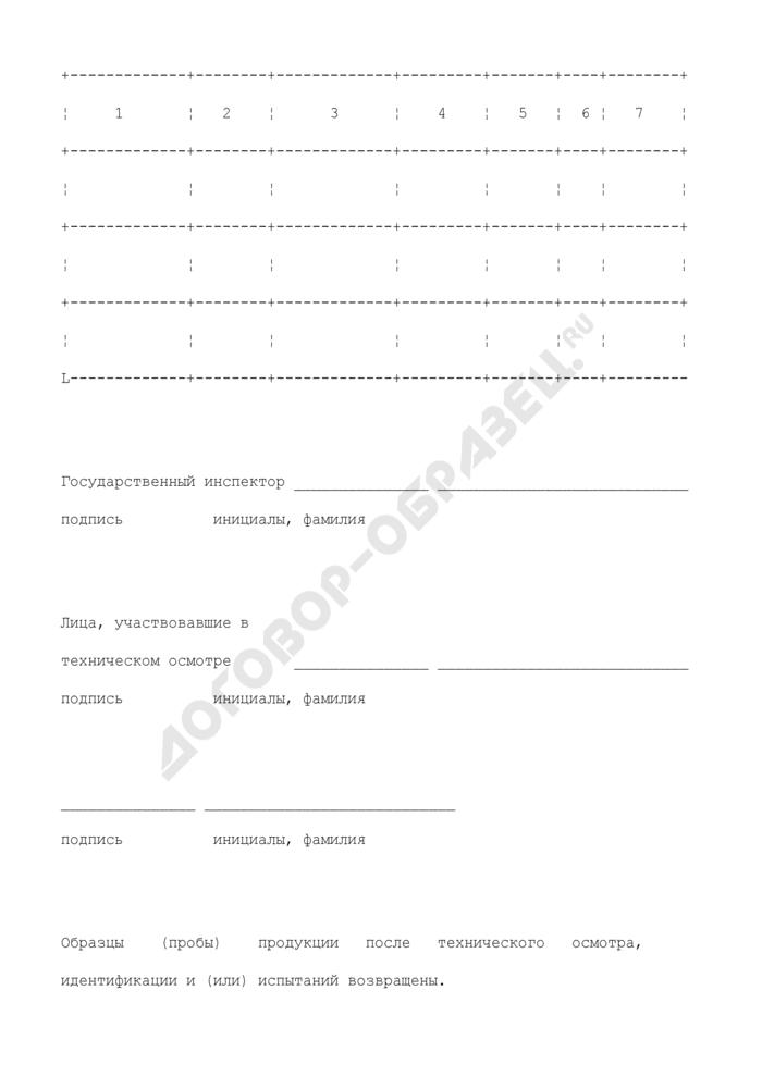 Протокол технического осмотра продукции для проверки на соответствие требованиям нормативного документа. Страница 3