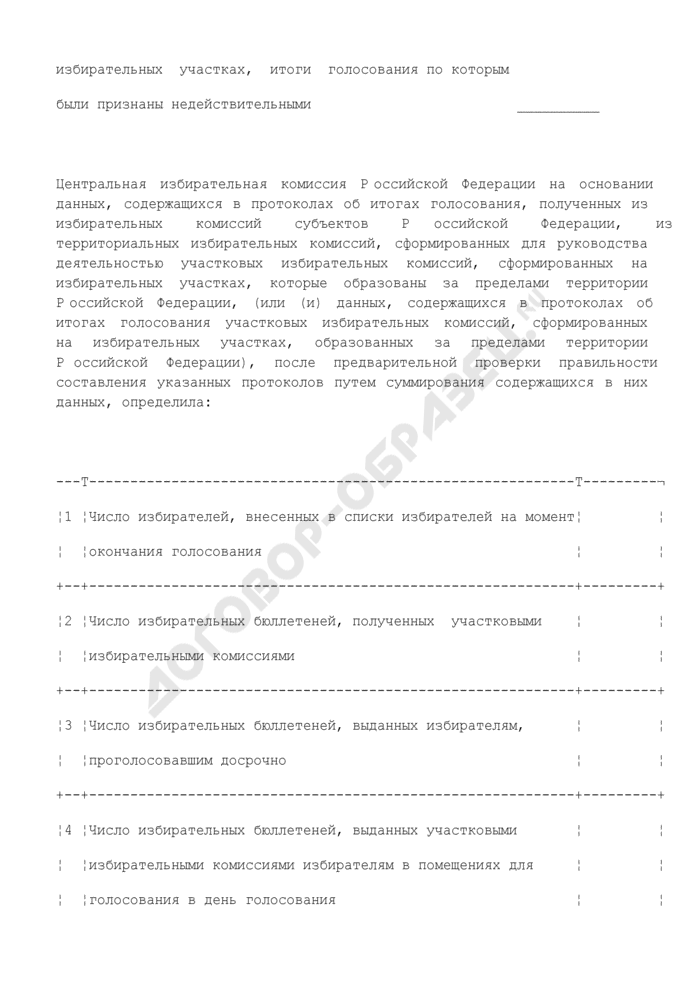 Протокол Центральной избирательной комиссии Российской Федерации о результатах выборов Президента Российской Федерации (обязательная форма). Страница 3