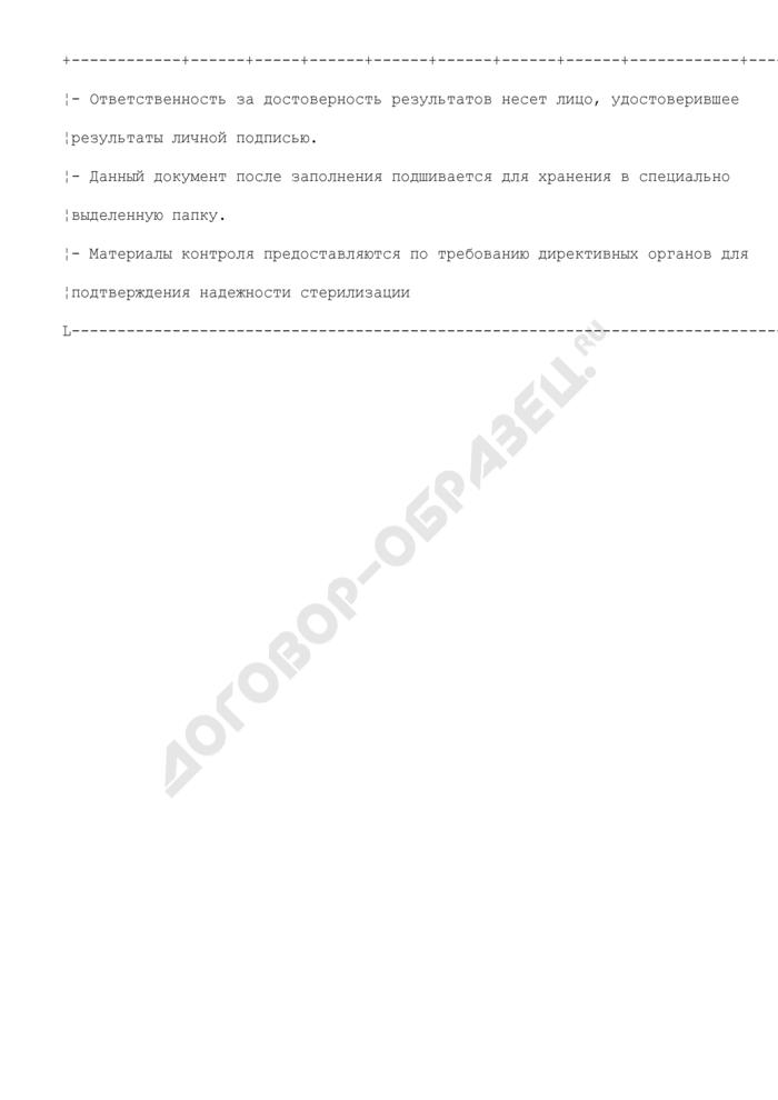 Протокол ежедневного контроля эффективности предстерилизационной очистки инструмента в лечебно-профилактических учреждениях. Страница 2