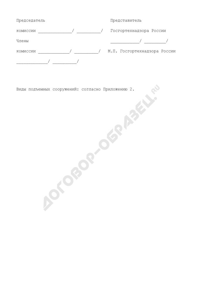 Протокол заседания аттестационной комиссии по проверке знаний правил Госгортехнадзора России и другой нормативно-технической документации у специалистов по обследованию и техническому диагностированию подъемных сооружений (рекомендуемая форма). Страница 3