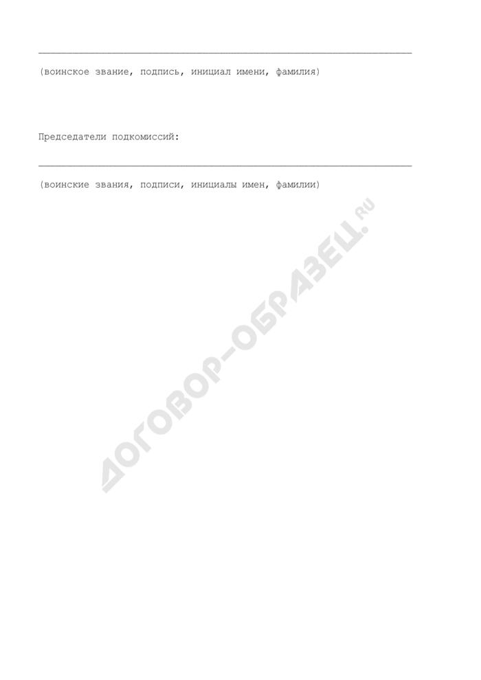 Протокол заседания приемной комиссии военно-учебного заведения о зачислении на учебу включенных в конкурсный список первых кандидатов. Страница 3