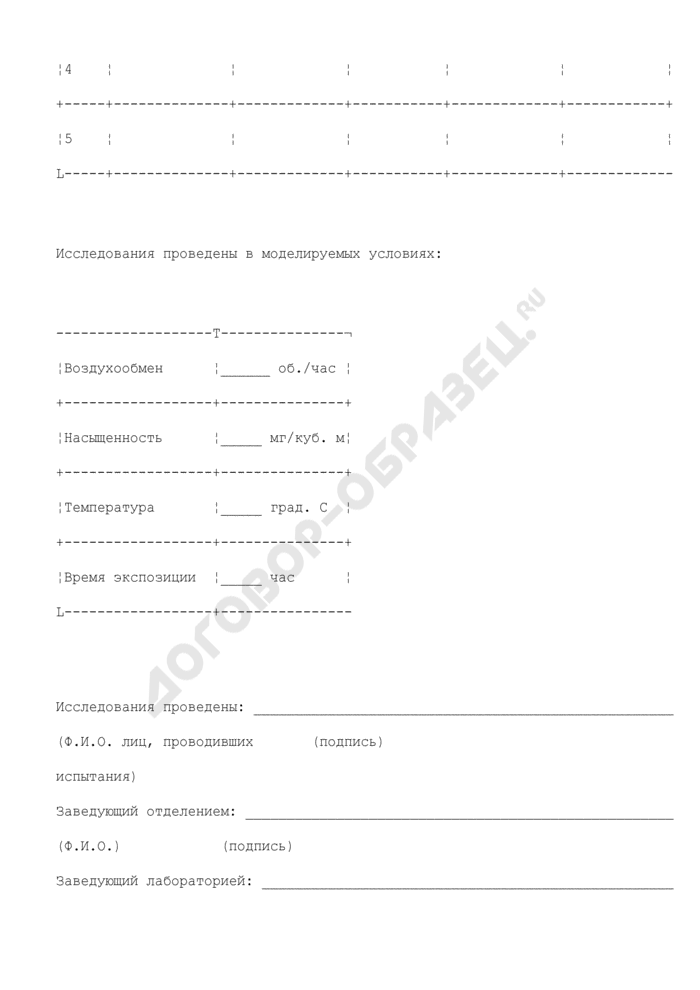 Протокол исследования образцов (проб). Страница 3